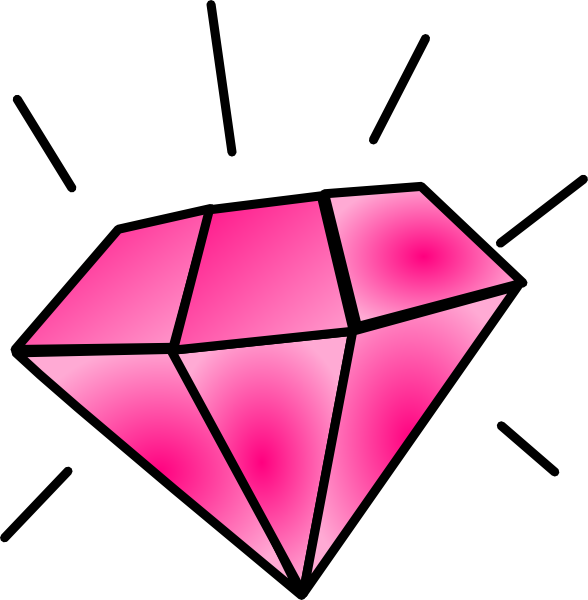 Free Pink Diamond Clipart Image.