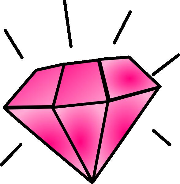 Free Pink Diamond Clipart Image.