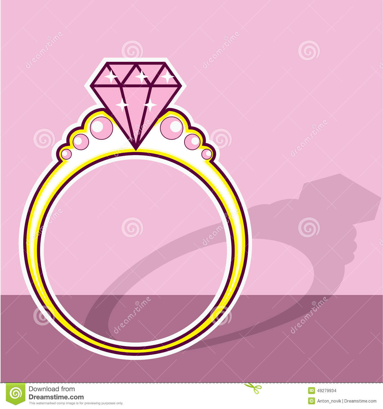 Pink diamond ring clipart 3 » Clipart Station.