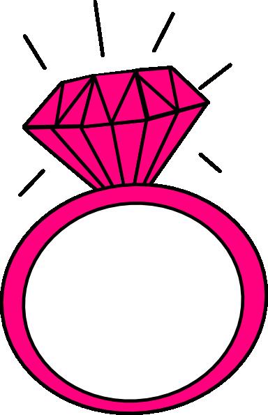 Pink Diamond Ring Clipart.