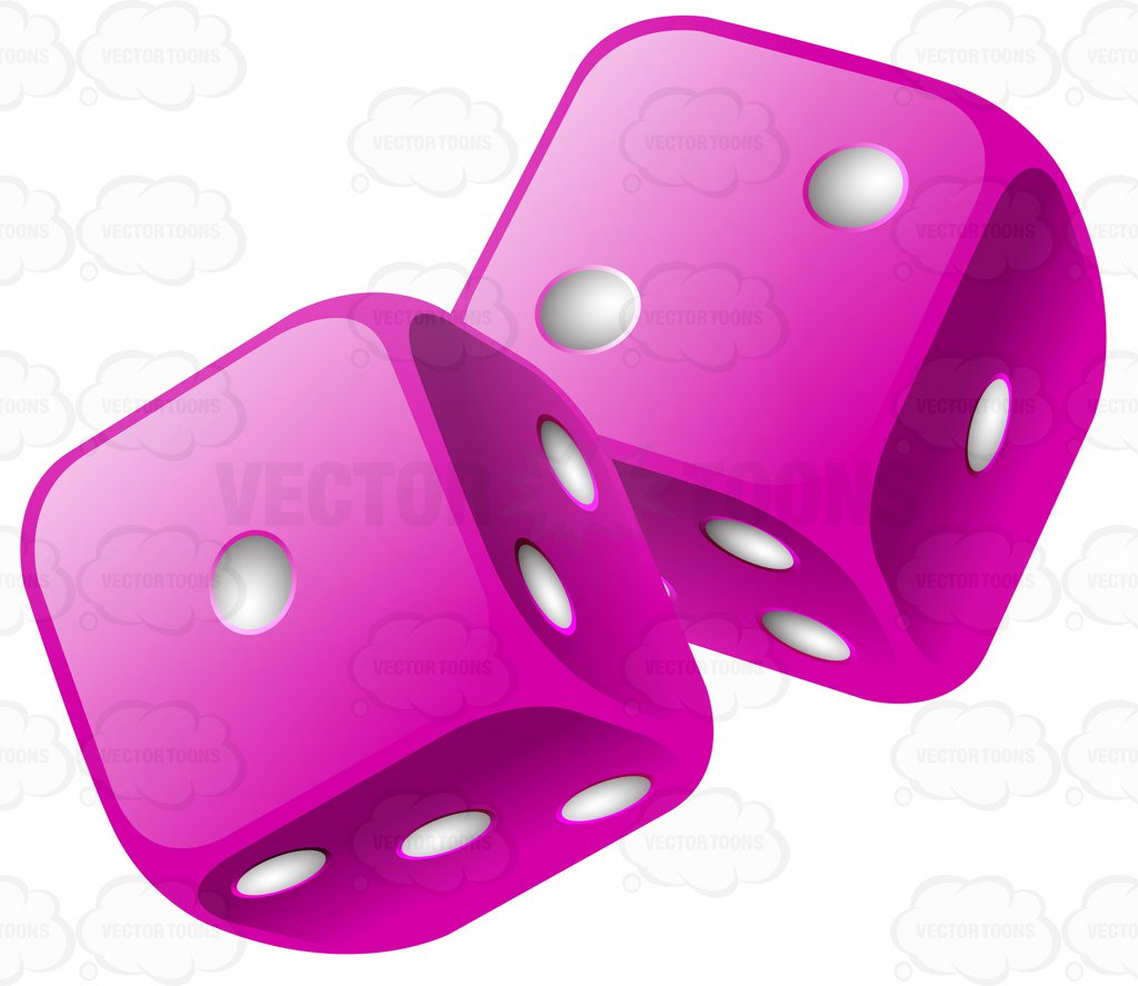 872 Dice free clipart.