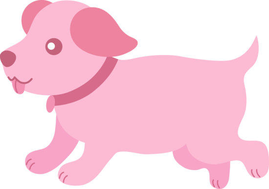Pink Dog Clipart.