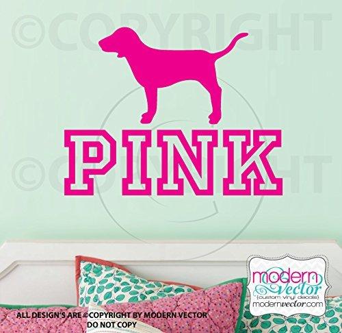 Amazon.com: VS PINK logo dog Vinyl Wall Decal: Handmade.