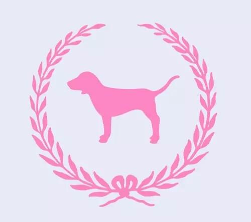 Vs pink dog Logos.