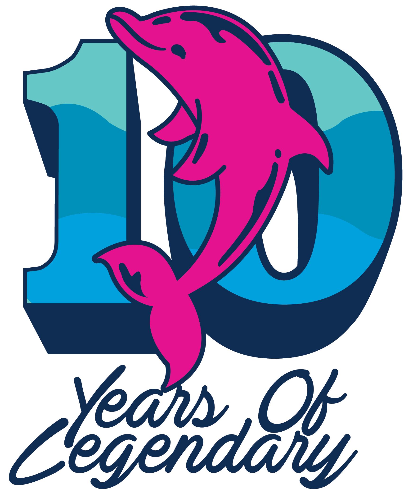 Logo Sling Pouch in Blue.
