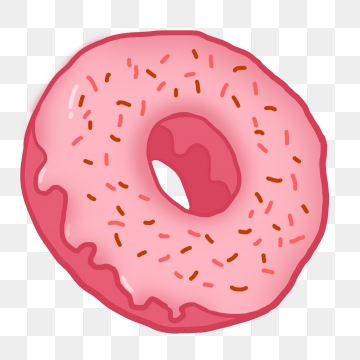 Pink Donut PNG Images.