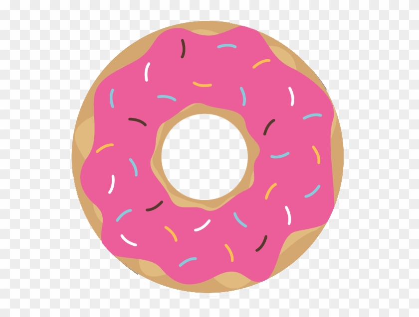 Pink Donut, HD Png Download.