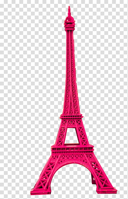 Pink Eiffel Tower, pink Eiffel Tower scale model transparent.