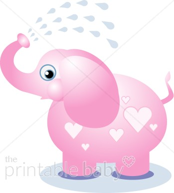 Pink Elephant Clipart.
