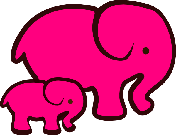Pink Elephant Clipart.
