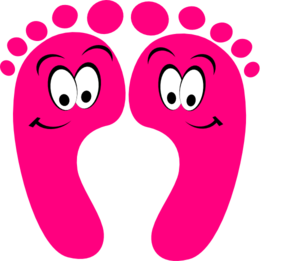 Pink Happy Feet Clip Art at Clker.com.