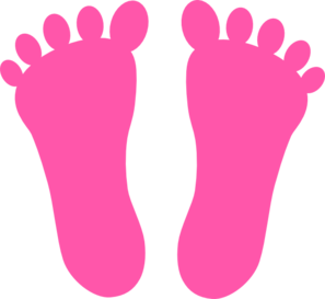 Pink Footprints Clip Art at Clker.com.