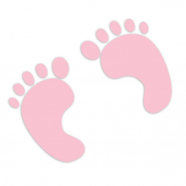 Pink Baby Footprints Clipart.