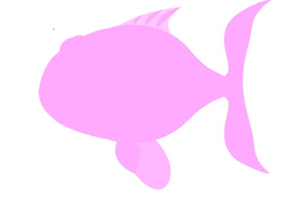 Light Pink Happy Fish Clip Art at Clker.com.