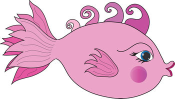 Girly Animated Fish Clipart.