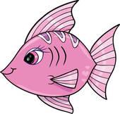 Pink Fish Clip Art.
