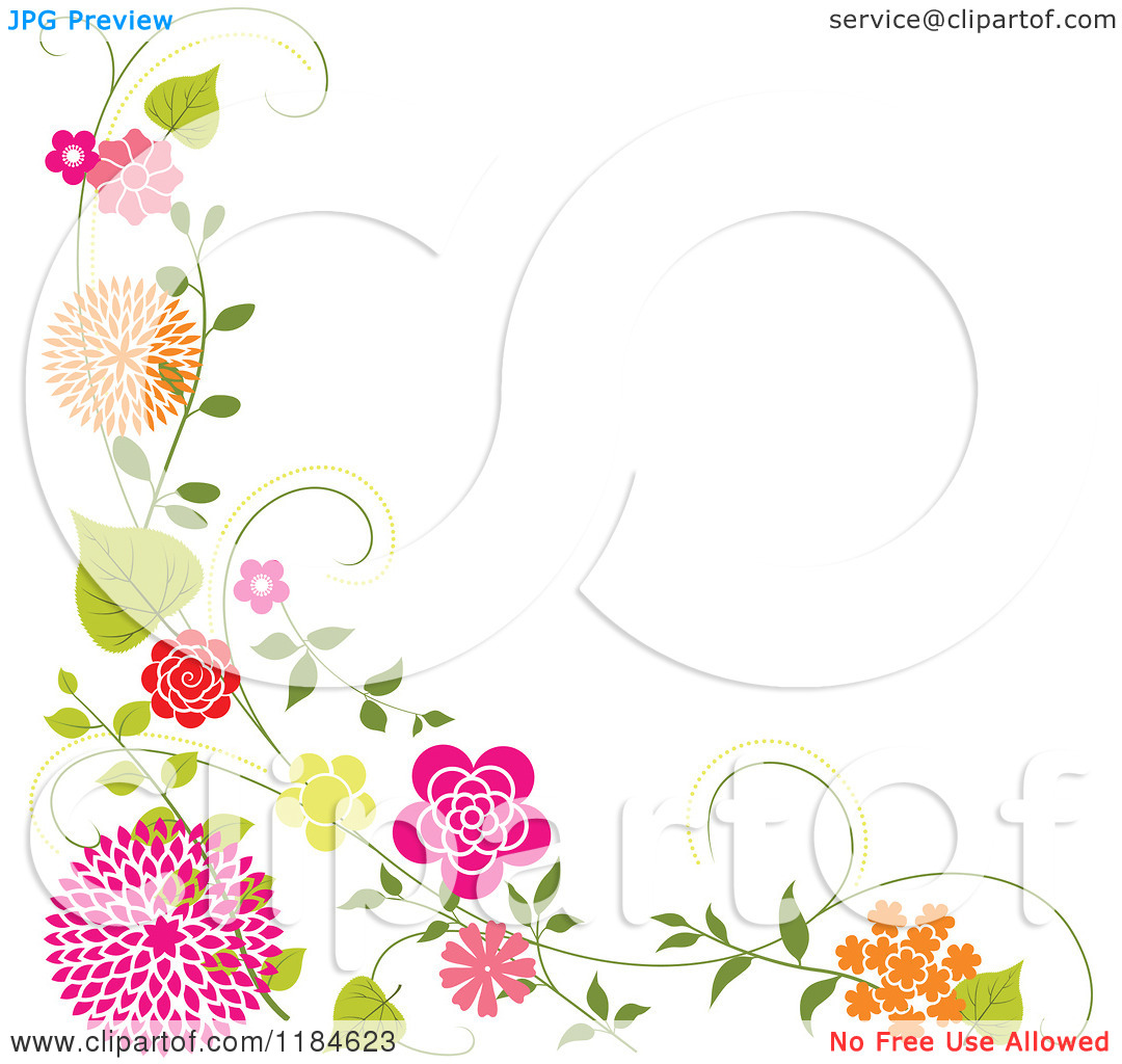 Clipart Of A Floral Corner