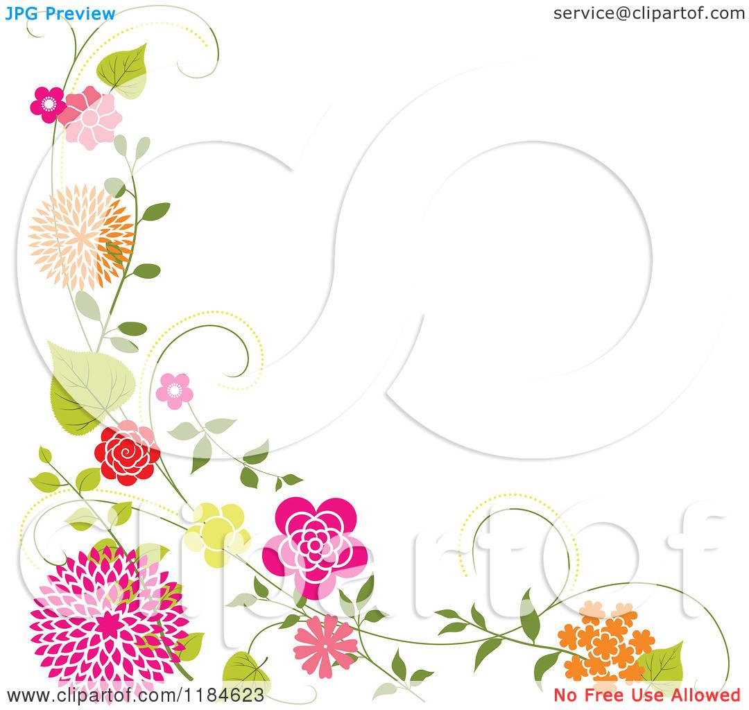 Free Floral Border Clip Art.