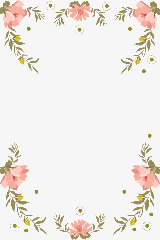 495 Floral Border free clipart.