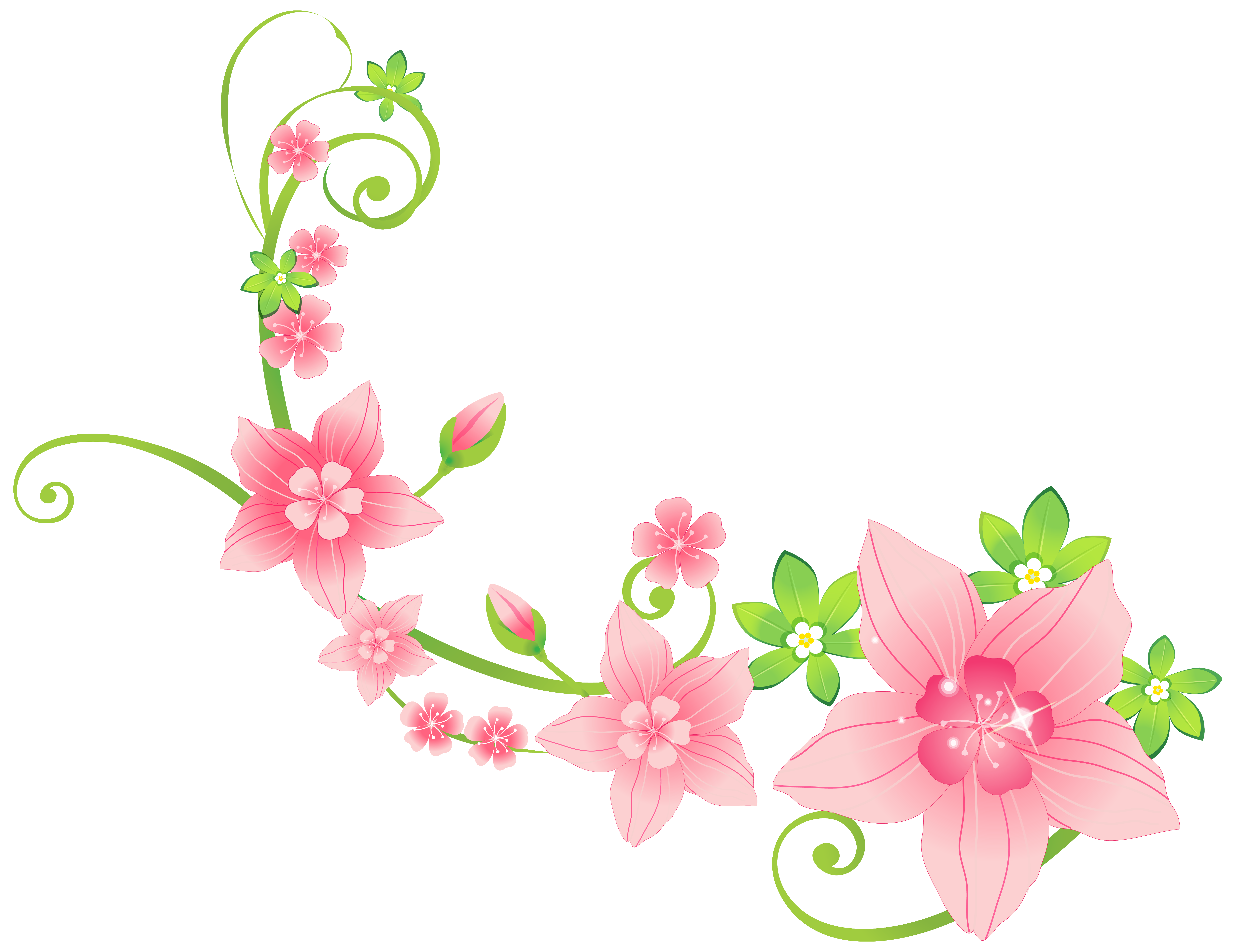 Pink Floral Decoration PNG Clip.