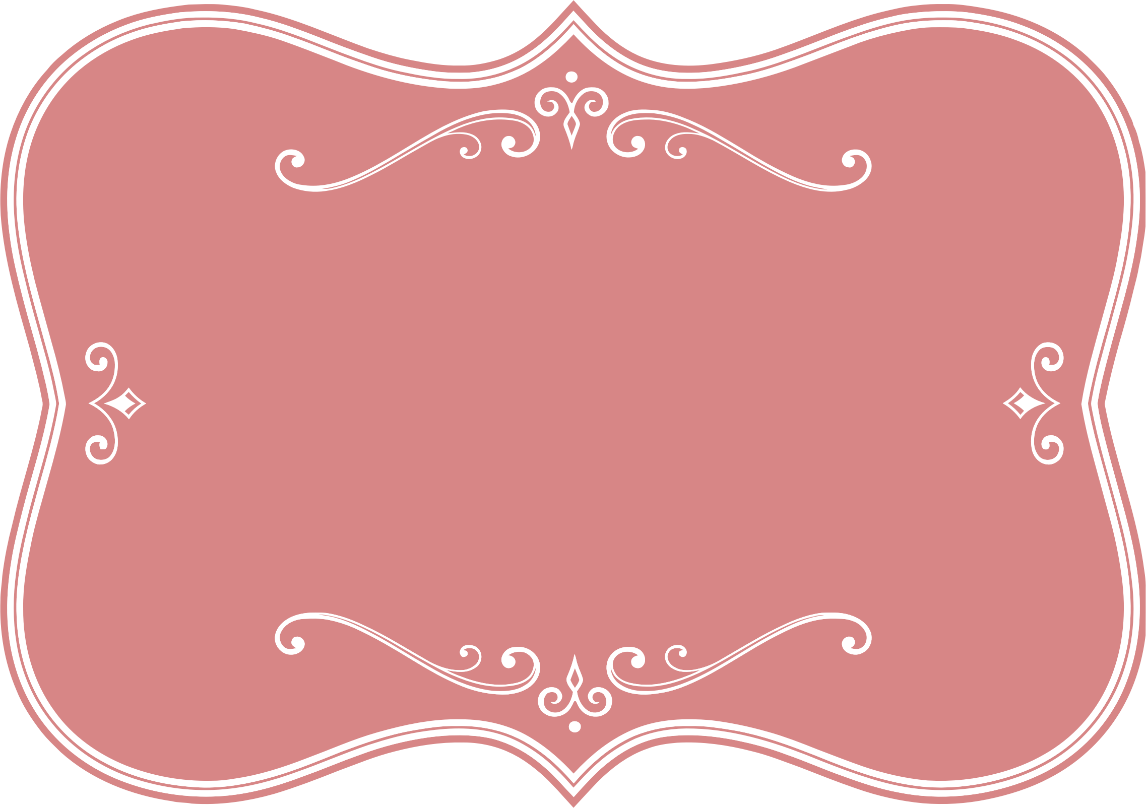 Flourishes Clipart Pink Vector Frame Png.