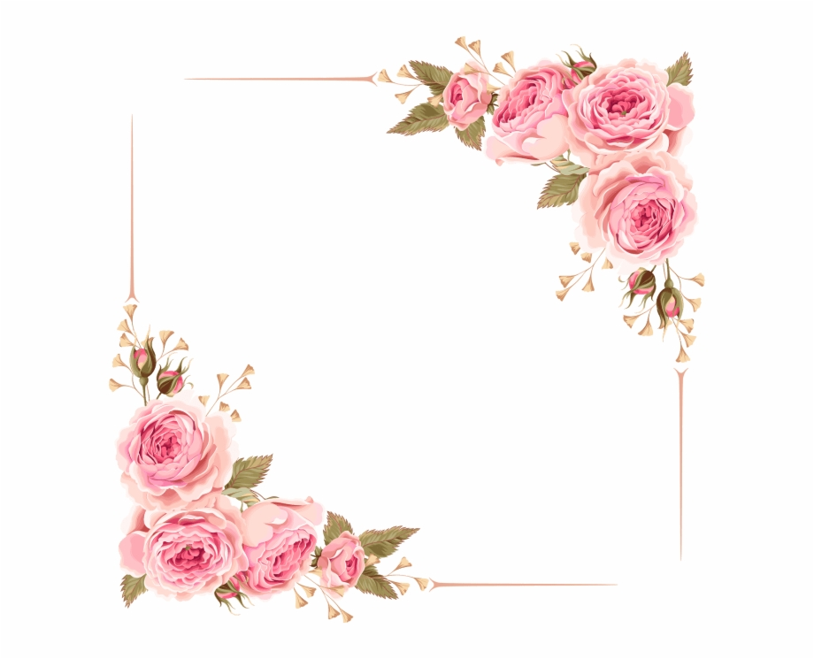 Flower Border Clipart Frame Png Free.