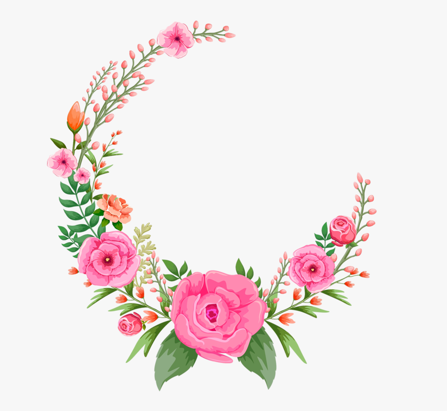 Pink Rose Flowers Flower Frame Free Hd Image.