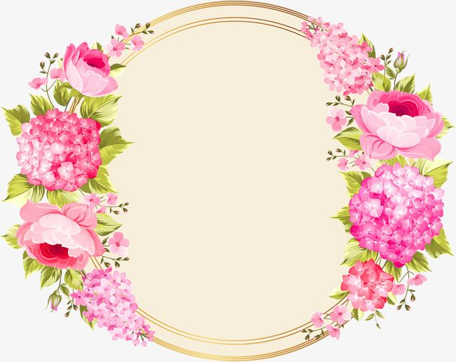 Pink Flower Circle, Flower Clipart, Circle Clipart, Pink PNG.