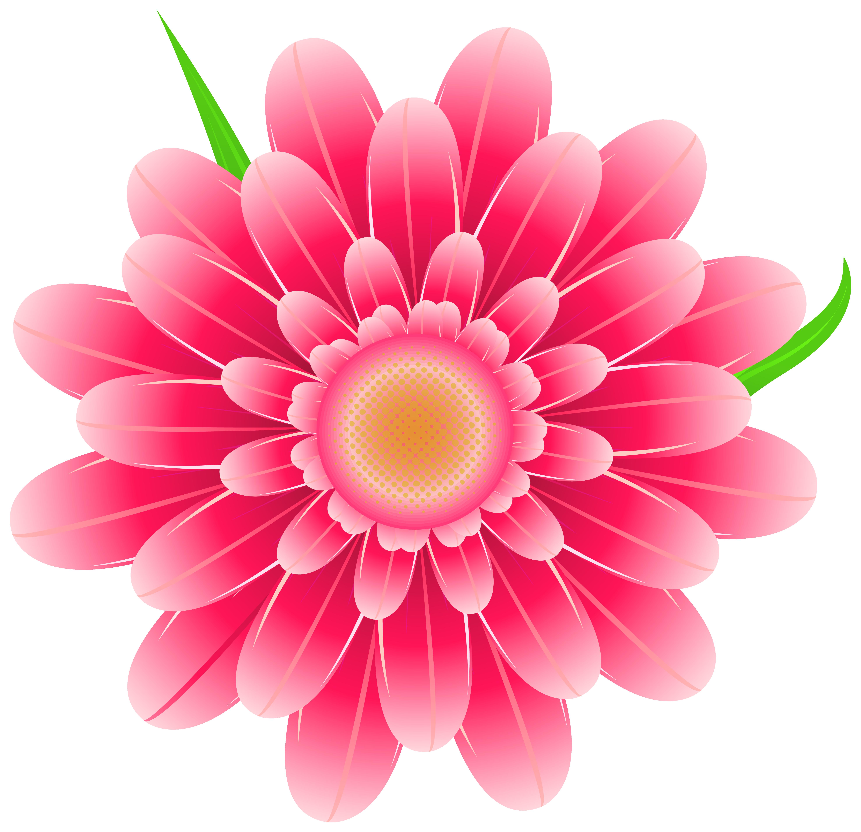 Transparent Pink Flower Clipart PNG Image.