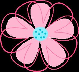 Pink Flowers Clipart Worksheet 849.