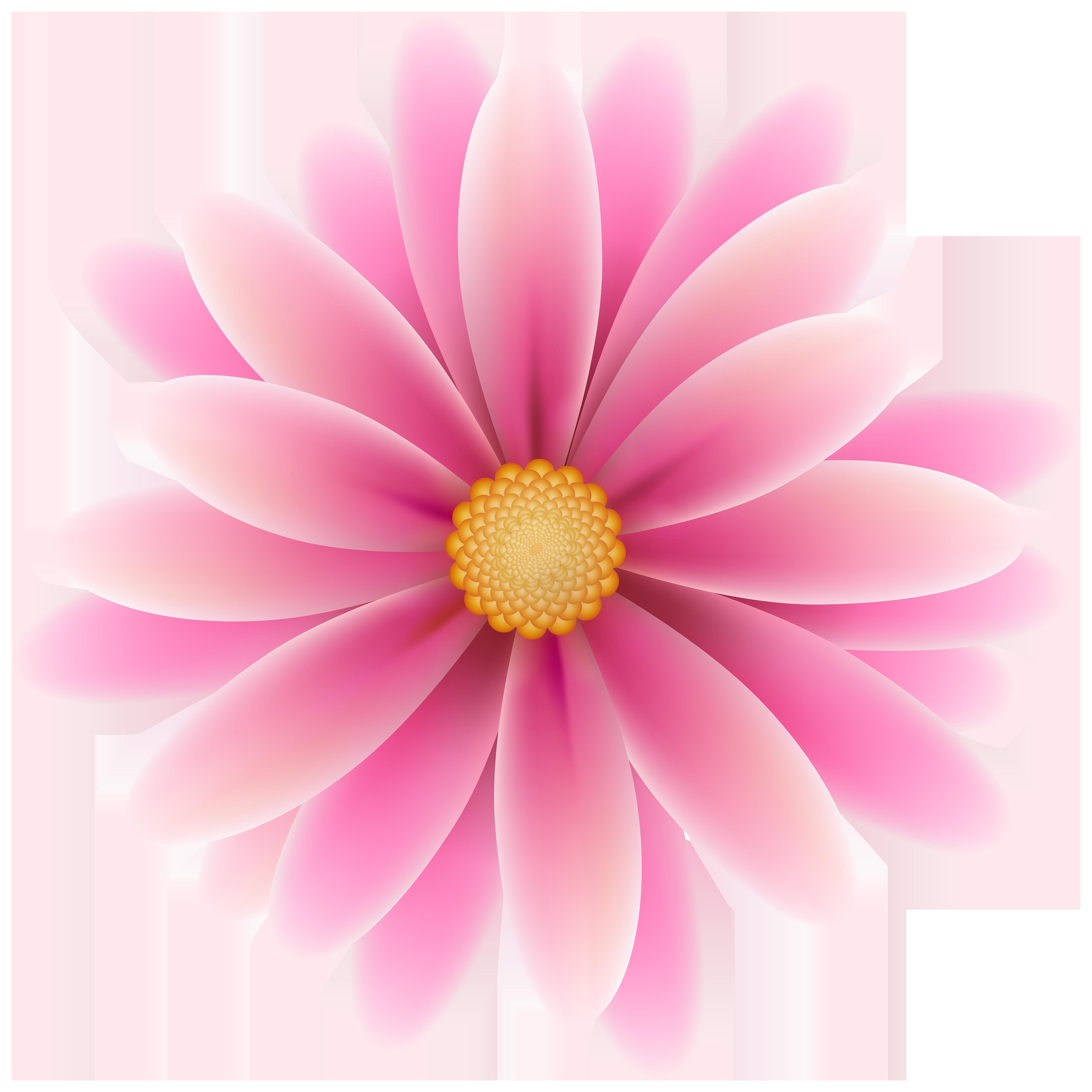 Pink Flower Clip Art Image.