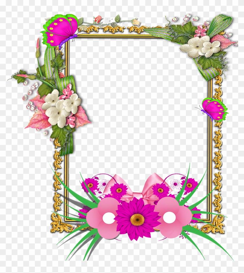 Flower Frame Png, Frame Floral, Png Photo, Frame Wreath.