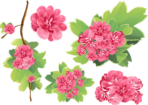 Pink flowers free vector download (12,774 Free vector) for.