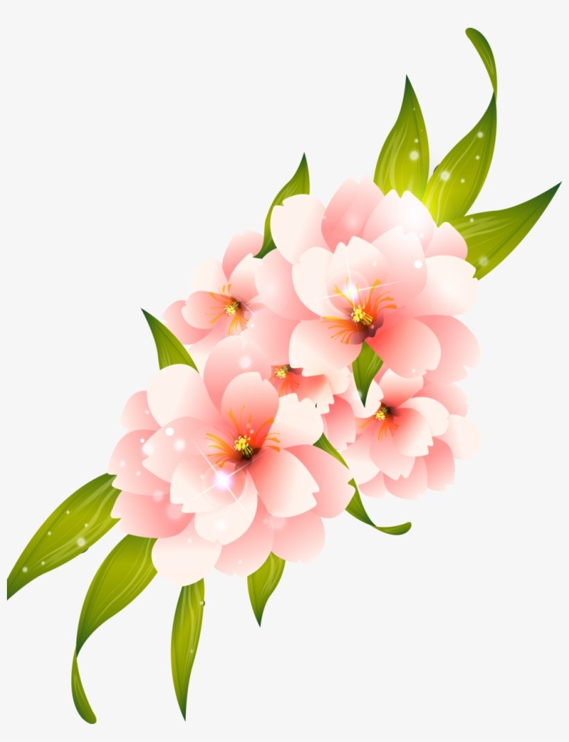 Pink Flower Vector Png.
