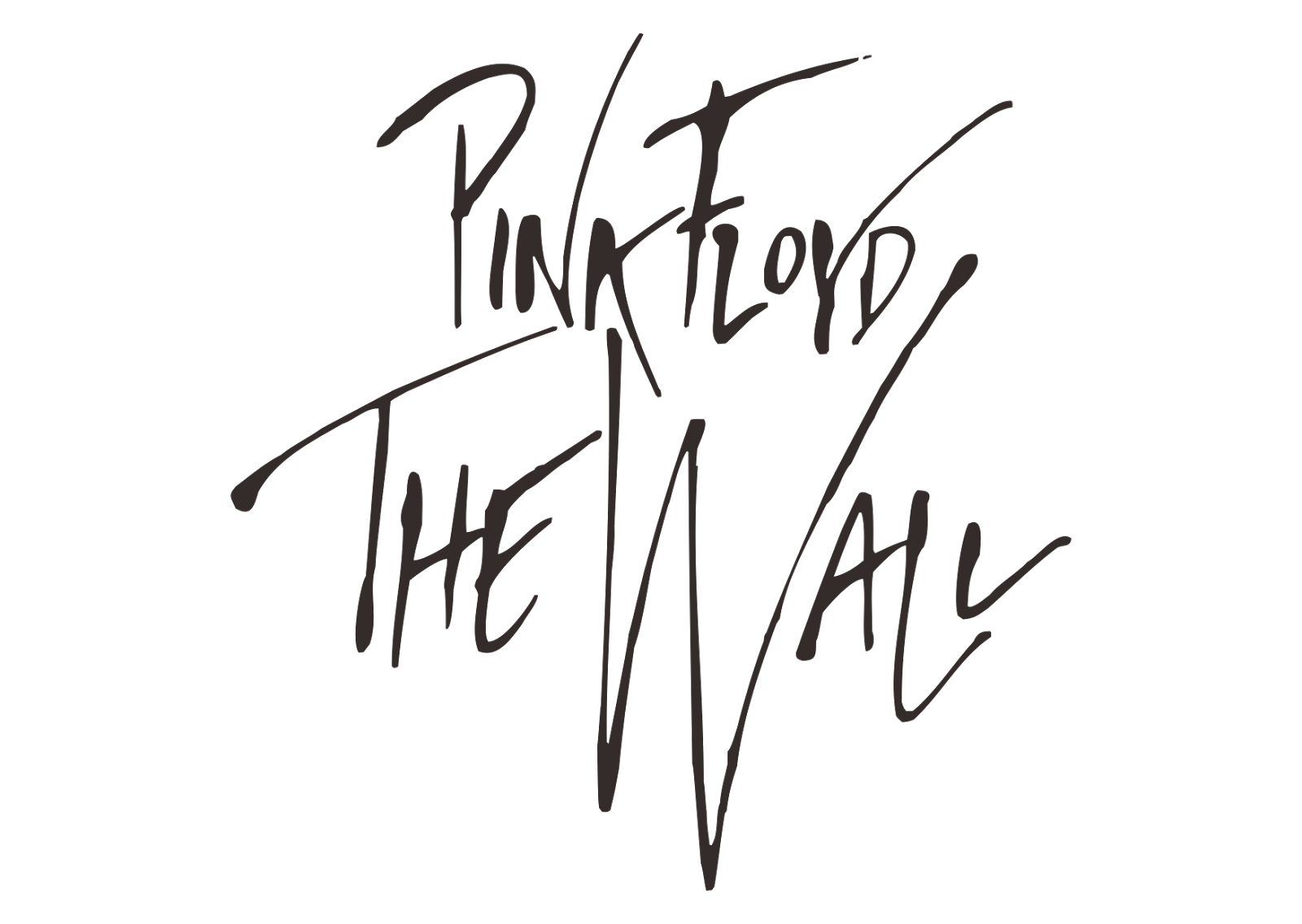 Pink Floyd the Wall Logo transparent PNG.
