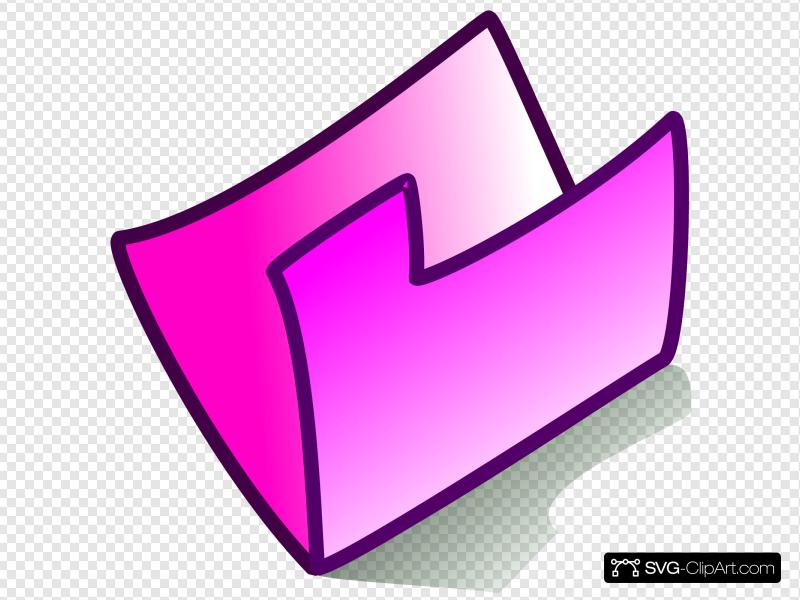 Pink Folder Clip art, Icon and SVG.