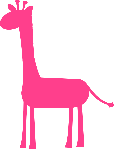 Hot Pink Giraffe Clip Art at Clker.com.