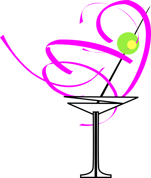 Martini Glass Pink Clip Art at Clker.com.