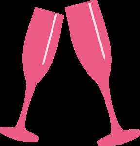Champagne Glass Lite Pink Clip Art at Clker.com.