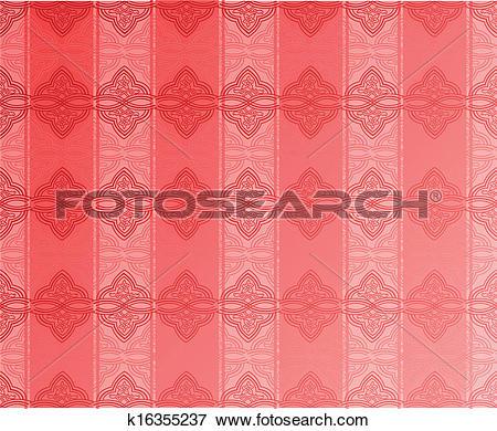 Clip Art of Pink Glow Atlas Seamless Wallpaper. Vector.