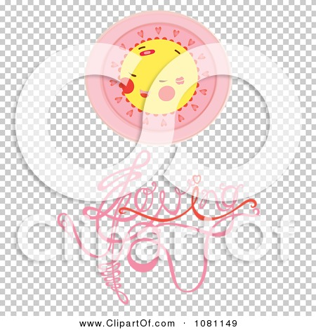 Clipart Sun With Pink Glow Over Loving Text.