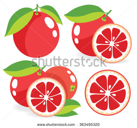 Ruby Grapefruit Stock Photos, Royalty.