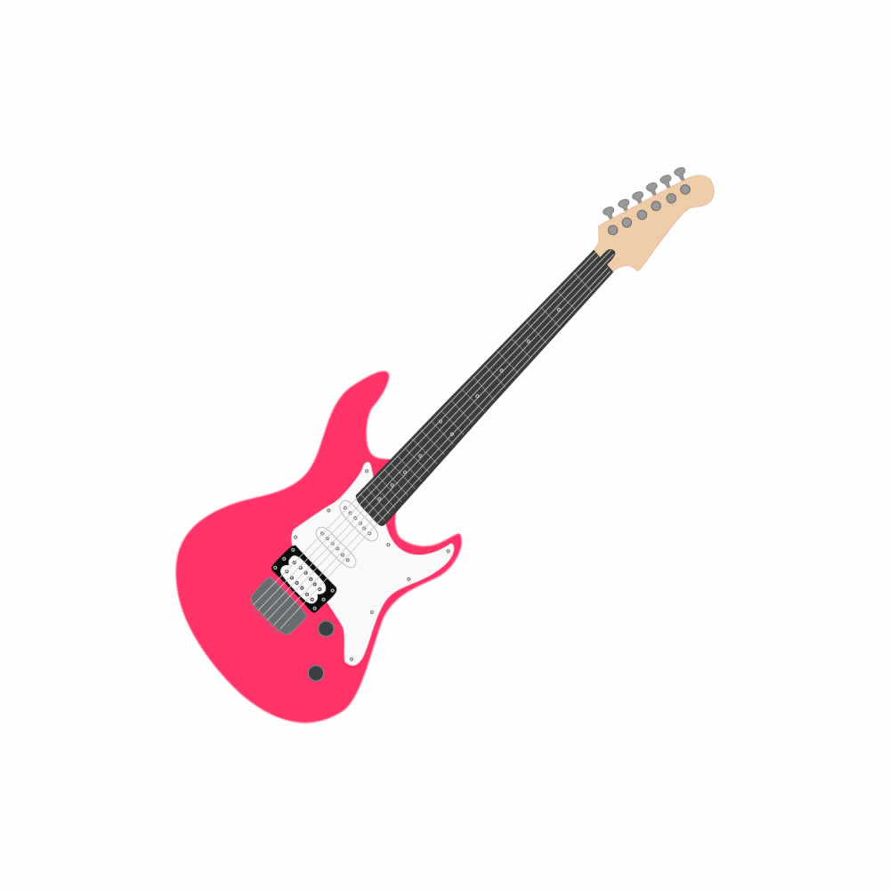Download Pink Guitar Clipart.
