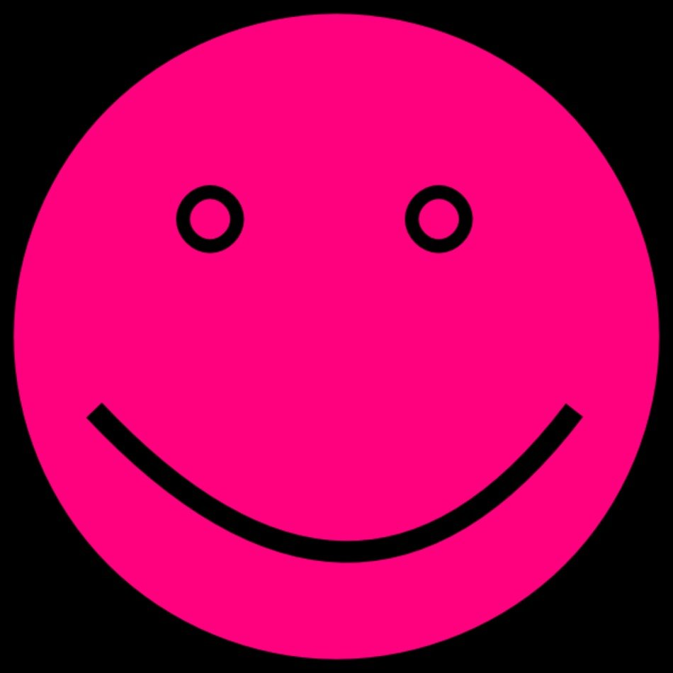 Pink Smiley Face Clip Art N8 free image.