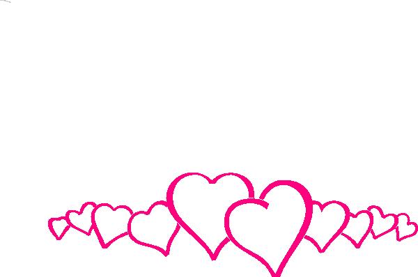 Hot Pink Heart Border Clip Art at Clipart library.