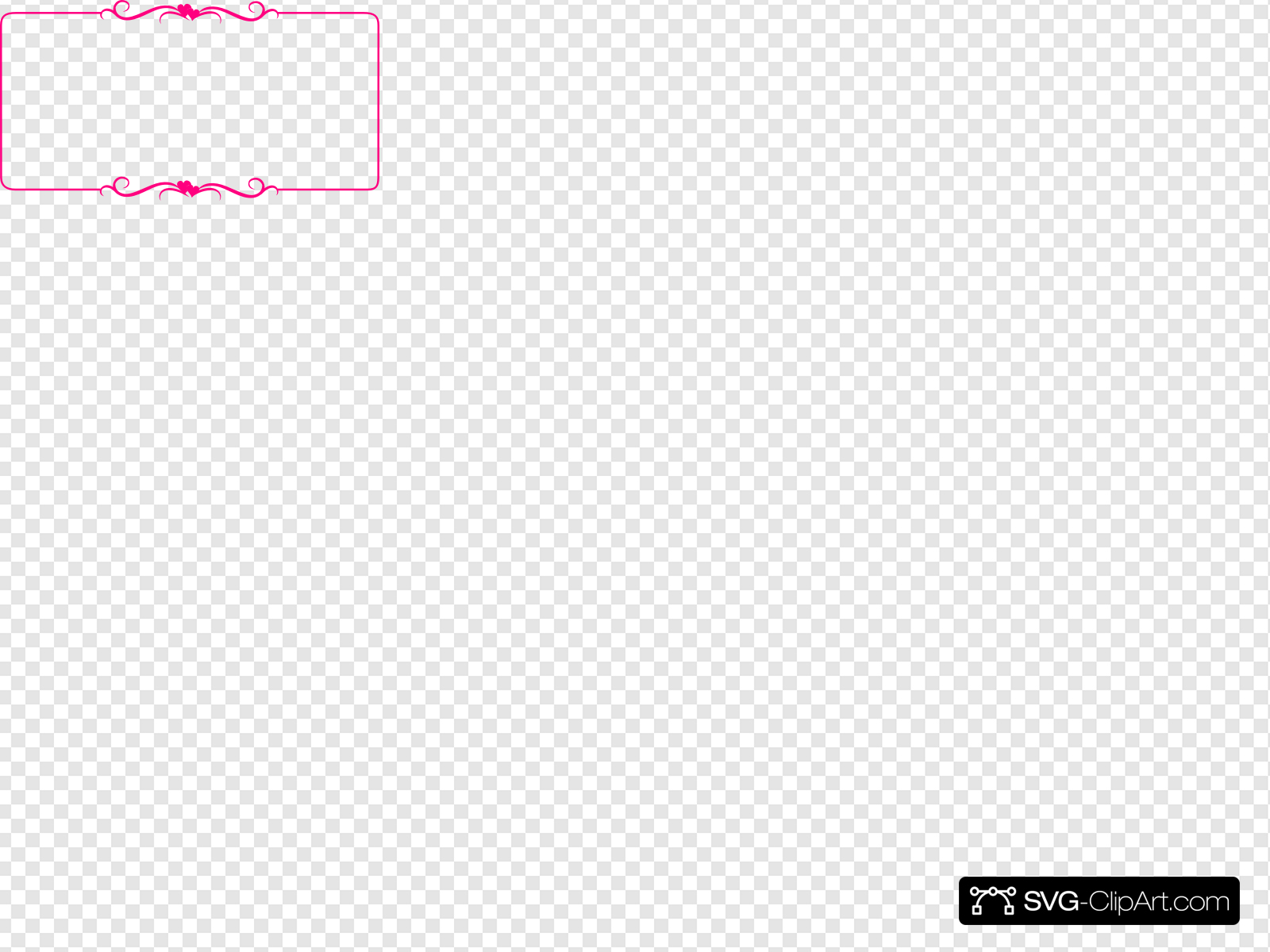 Pink Heart Border Clip art, Icon and SVG.