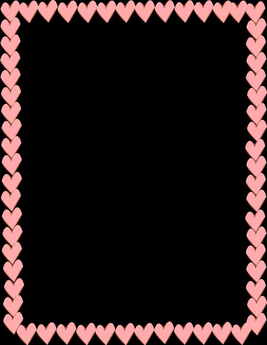 Pink Heart Border Clip Art N4 free image.