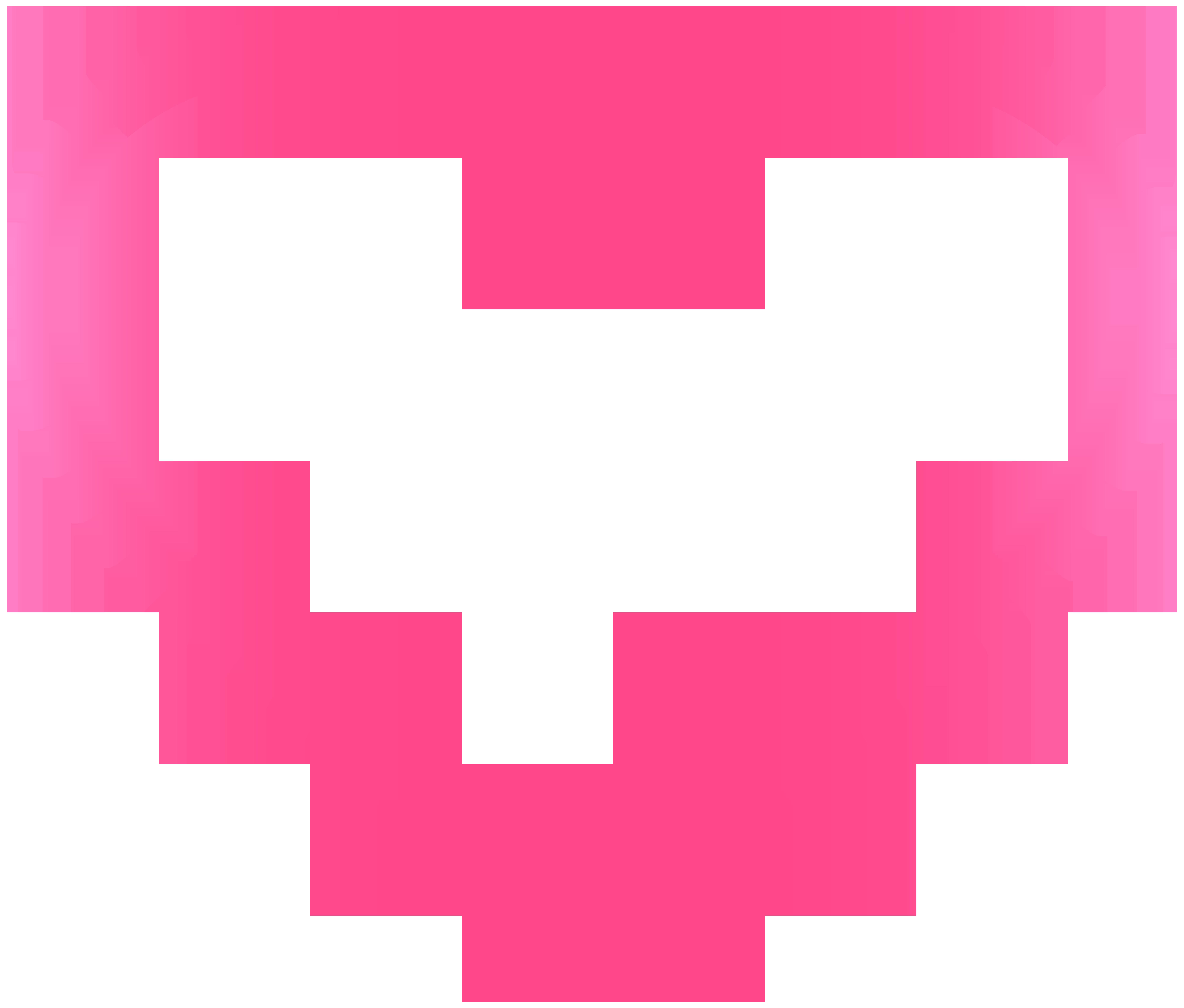 Pink Heart Border Frame Transparent PNG Clip Art.