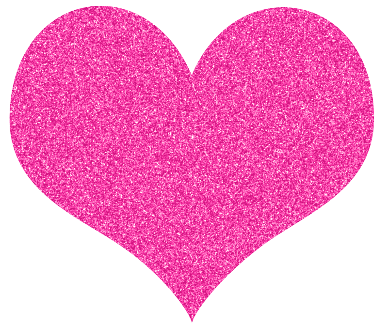 Pink sparkly heart.