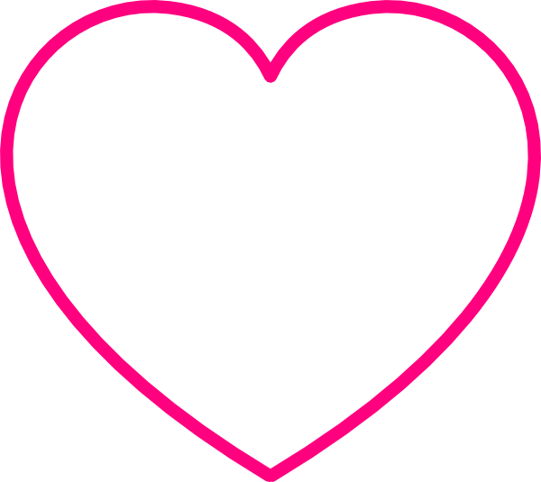 Gray Heart With Pink Outline Clip Art at Clker.com.